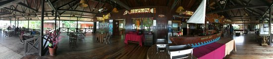 Pulau Tiga, Malaysia: The reception, dining, by the chalets