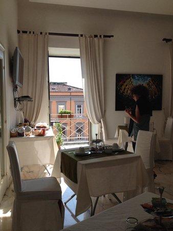 B&B Palazzo Ruffo di Bagnara: Colazione buona, semplice e fresca! Pernottamento molto piacevole.