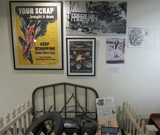 Wolfeboro, NH: Scrap Drive exhibit in the Home Front room