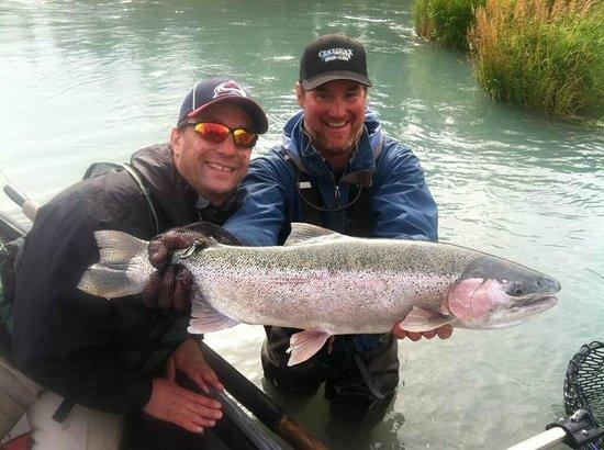 Beautiful rainbow trout picture of kenai river fly for Kenai river fishing