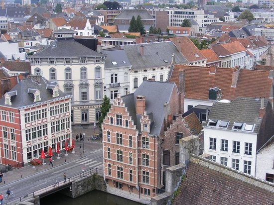 Hotel Gravensteen from the castle