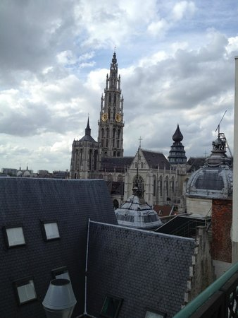 Hilton Antwerp Old Town: view of Old City from roof terrace