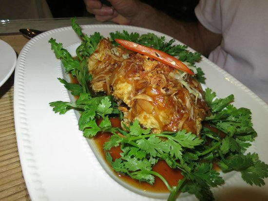 Orchids: Fried Snapper in Tamarind Sauce