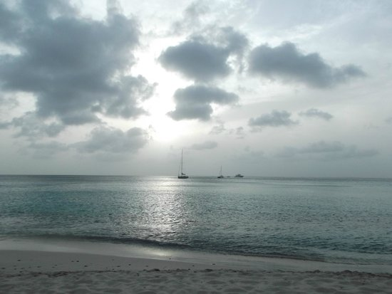 Grand Case Beach Club: Grand Case Sunset. Nothing has been done to this photo. Just natural beauty all over this beach.
