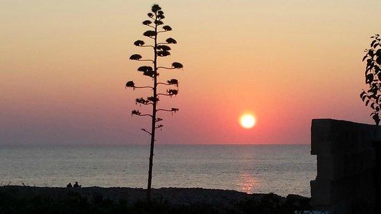 Los Lentiscos: Magnifico tramonto dal balconcino