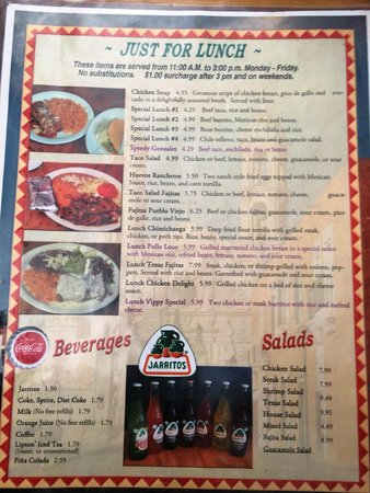 Algood, TN: The Lunch Menu