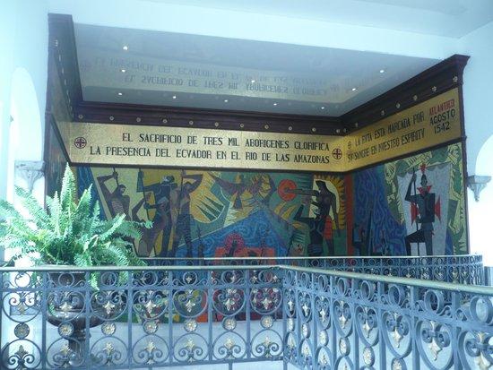 Palacio de Gobierno: Mural sobre Descubrimiento de America