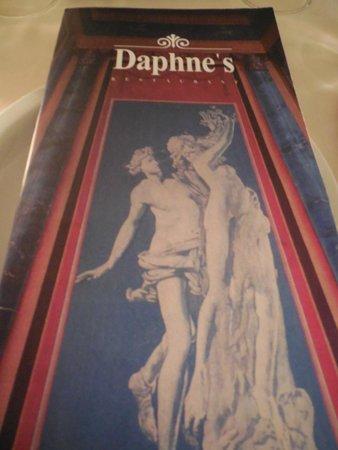 Daphne's: Il Menu