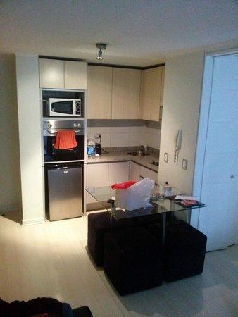 Departamento Amoblado Costa Nueva de Lyon: Cozinha bem equipada