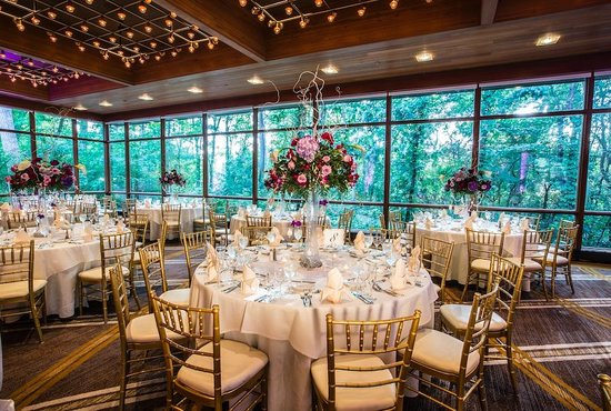 The Hyatt Lodge at McDonald's Campus : Our indoor wedding space is surrounded by beauty and nature.