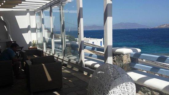 Grand Beach: balcony of honeymoon suite