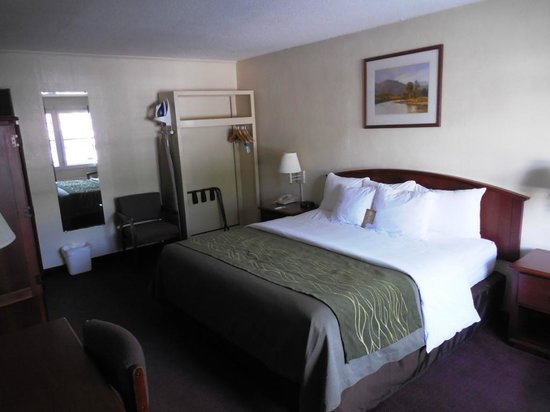 Rodeway Inn & Suites On The River: Comfortable Bed