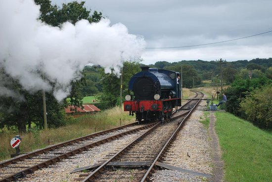 Isle of Wight Steam Railway: Waggoner running round to rejoin the carriages