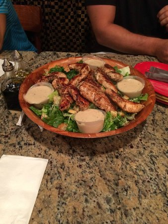 Piccini Wood Fired Brick Oven: The Bucket of Chicken Caesar Salad