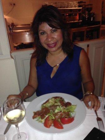 Centfocs : Salad with Serrano ham, delish!