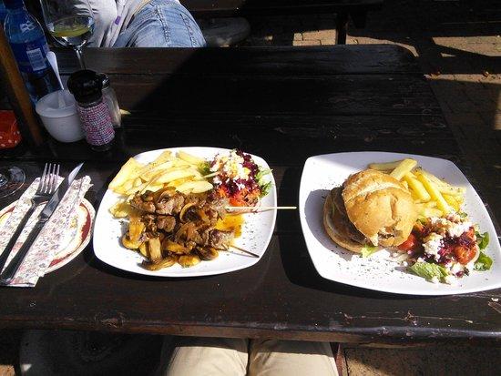The Cuckoo tree: beef fillet kebap+homemade beef hamburger