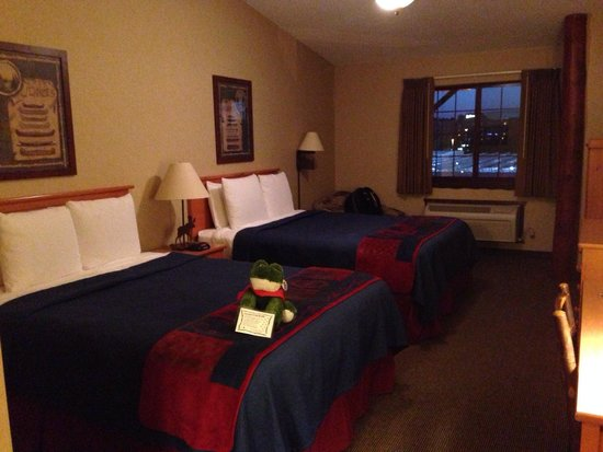 Stoney Creek Hotel & Conference Center - Moline: Stuffed animal on the bed for my arrival!