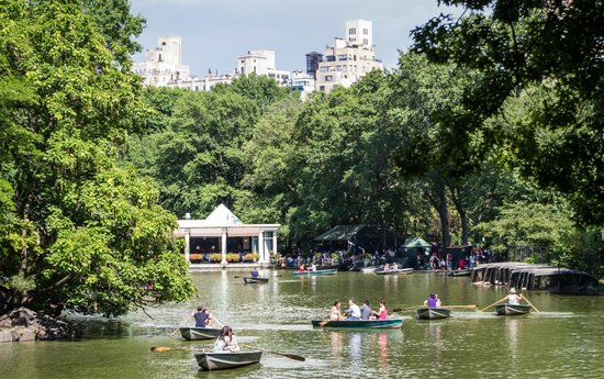 Manhattan Walking Tour : Rowboats near the Boathouse in Central Park