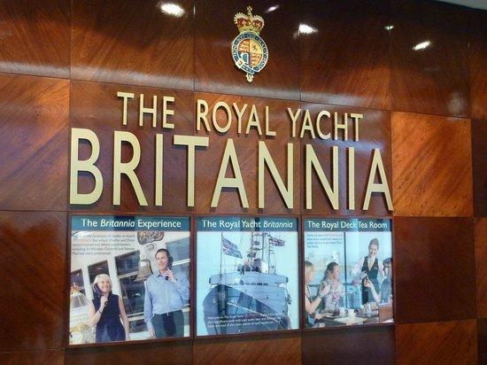 Royal Yacht Britannia: Sign
