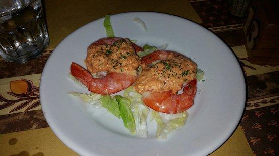 Perche' No: Code di gambero con salsa di peperoni