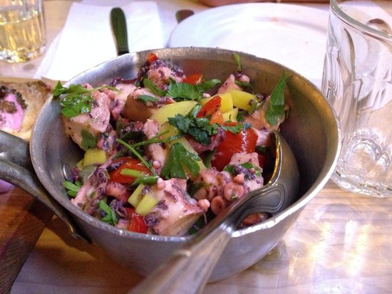 Raki Ba Raki: Octopus salad
