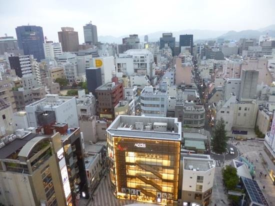 Hiroshima Washington Hotel : view from the room (high floor)