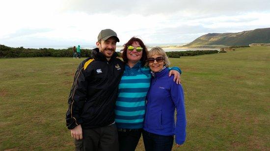 Three Cliffs Bay Holiday Park: Martin, Lynsey & Pam at Rhossili