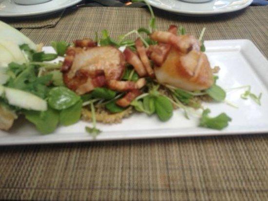 Terrafina at Hester Creek by RauDZ: scallops/bacon/quinoa salad