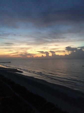 Hotel Blue: Sunrise from the balcony
