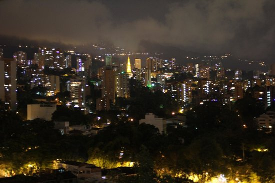 The Charlee Hotels: Medellin at night, from the hotel room