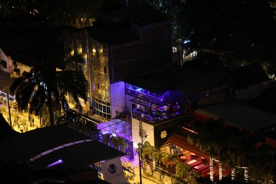 The Charlee Hotels: View of Discotheque from hotel room