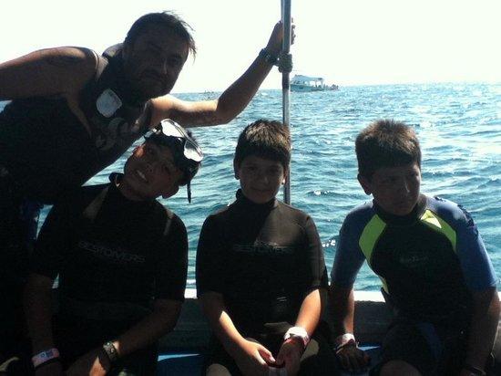 Colegio de buceo Cancun: con david diego y carlitos