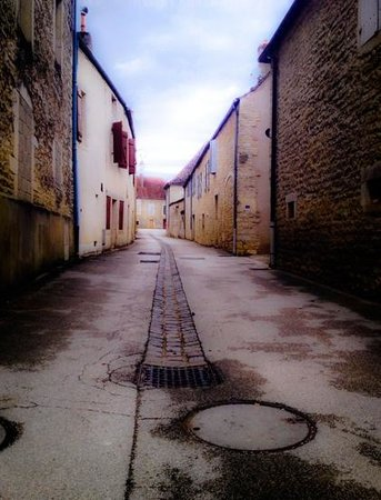 La Maison d'Olivier Leflaive : A typical street in Puligny-Montrachet