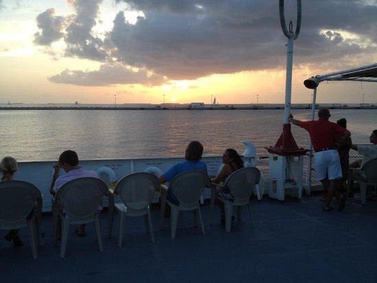 U.S. Coast Guard Cutter Ingham Maritime Museum: Sunset on the USCG Ingham 9/5/2014