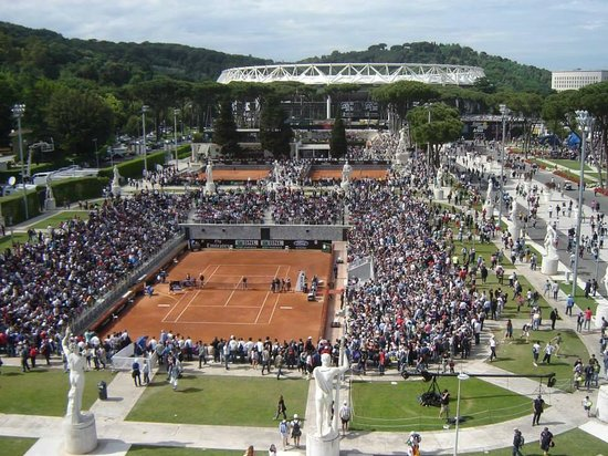Foro Italico: Internazionali d'Italia (cancha auxiliar desde el estadio central)