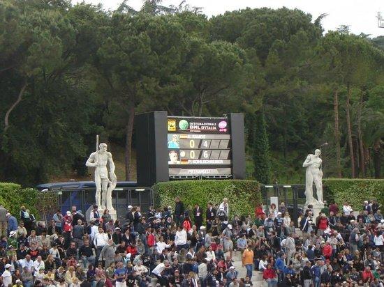 Foro Italico: Internazionali d'Italia (cancha auxiliar - tribunas)