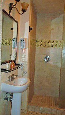 The Historic Taos Inn: Room 201 bathroom