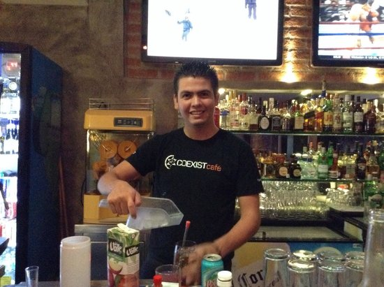 Coexist Cafe: Moses the new bartender