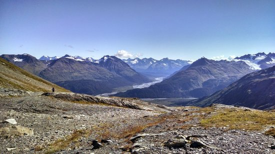 Harding Ice Field Trail: View from trail