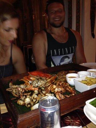 Rama Garden Hotel Bali : barbecued seafood platter