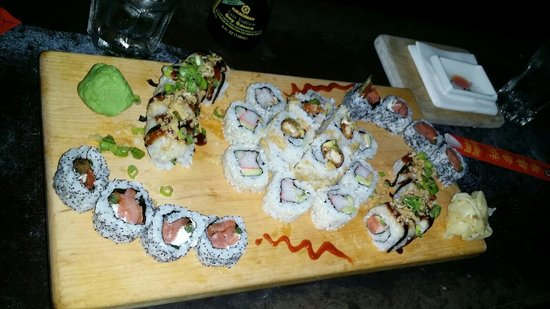 Enkai : West Philly, Rochester, The Panda, and California rolls. Super yummy!
