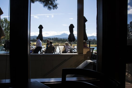 The Lodge Restaurant at Black Butte Ranch: View from table in the Aspen Lounge
