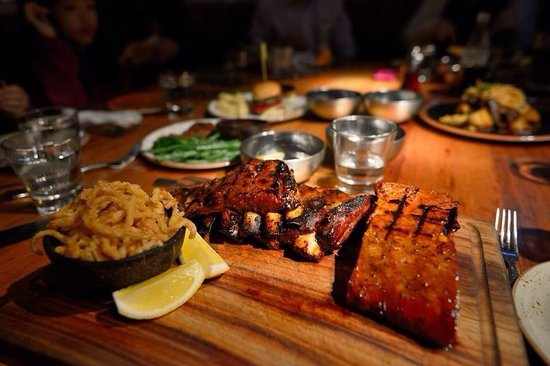 The Meat and Wine Co.: Mixed ribs
