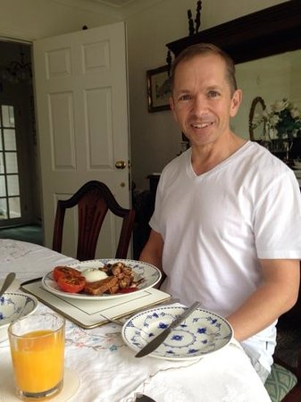 Holly House Bed & Breakfast: my smile says it all,amazing breakfast