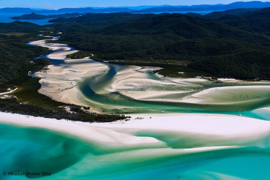 Pantai Airlie, Australia: Hill Inlet from the air.