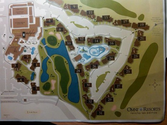 Omni Rancho Las Palmas Resort & Spa: map