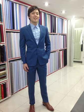 Bespoke Blue Suit with Brown Shoes - Picture of Jhasper Fashion
