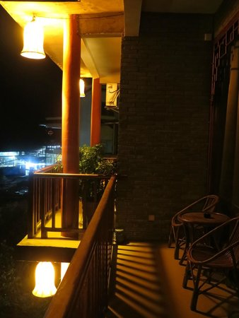 Yangshuo Village Inn : Night view from balcony