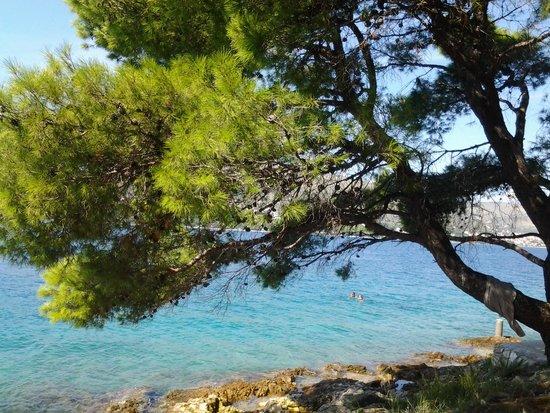 Weltkulturerbestätte Trogir: дикий пляж