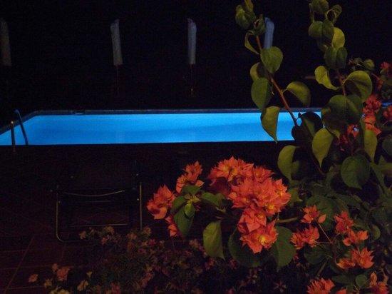 Hotel Rural Morvedra Nou: Piscina de noche